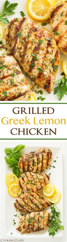 Grilled Greek Lemon Chicken - this chicken is so easy to prepare and it's deliciously flavorful! A go to dinner recipe! Marinated and grilled to perfection! dinner next week? New Recipes, Dinner Recipes, Healthy Recipes, Recipies, Cake Recipes, Casserole Recipes, Grilled Dinner Ideas, Celiac Recipes, Paleo Dinner