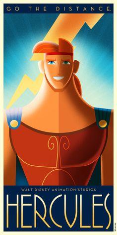 art deco disney - Spanish illustrator and designer David G. Ferrero created a series of art deco Disney posters. Each poster incorporates a powerful image and a mean. Disney Pixar, Disney Fan Art, Disney E Dreamworks, Heros Disney, Disney Love, Disney Magic, Disney Films, Megara Disney, Wallpaper Art Deco