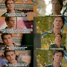 Stefan and damon 8x05 The Vampire Diaries, Vampire Diaries Seasons, Vampire Diaries The Originals, Song Lyric Quotes, Tv Quotes, Song Lyrics, Series Movies, Movies And Tv Shows, Popular Book Series