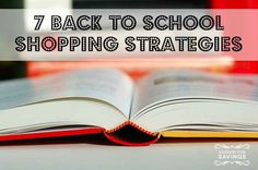 Before you head out, check out these back to school shopping strategies to help you spend smart!