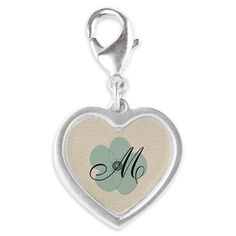 Personalize this floral charm with your letter!