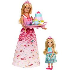 This Barbie Dreamtopia Sweetville Princess Tea Party Doll Set is perfect! Princess Tea Party, Barbie Princess, Barbie Birthday, Birthday Cake Girls, Birthday Gifts, Doll Clothes Barbie, Mattel Barbie, Accessoires Barbie, Tea Riffic