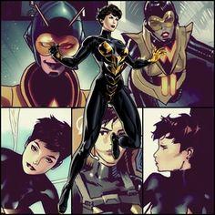 I wish the mcu wasp had short hair Dc Comics Vs Marvel, Dc Comics Women, Marvel Women, Marvel Girls, Fun Comics, Marvel Heroes, Captain Marvel, Wasp Avengers, New Avengers
