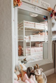 Pretty in Pink Huge Bedrooms, Shared Bedrooms, Floral Bedroom Decor, Beddys Bedding, Faux Fur Bean Bag, Magnolia Colors, Big Girl Rooms, Kid Rooms, Ikea Pax Wardrobe