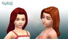 Caroline Hair for Girls at My Stuff • Sims 4 Updates