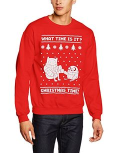 Adventure Time Men's Christmas Time! Short Sleeve Jumper