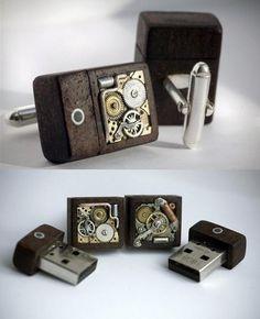 USB cuff links