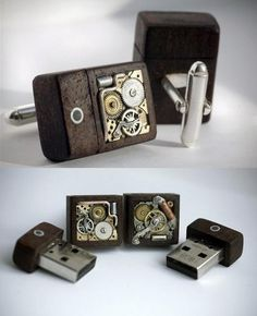 USB cuff links