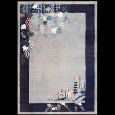 Chinese Art Deco Small Carpet 21976