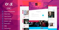 ONE- #HTML Template #webdesign