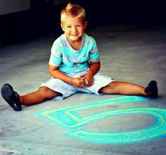 Birthday photo Shoot with Chalk..5 years old photo shoot.