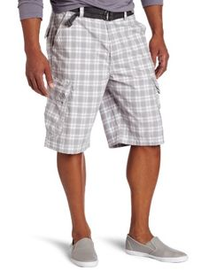 Calvin Klein Jeans Men's Transparant Plaid Cargo Short
