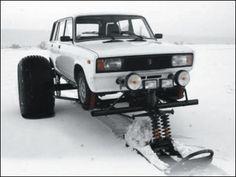 Snow foot car - Lada