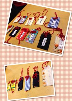 """OMAMORI"" handmade Japanese amulet with 1,2,3, and 4th graders. Beautiful!"