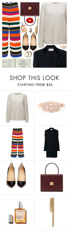 """""""Untitled #6999"""" by amberelb ❤ liked on Polyvore featuring Circus Hotel, Yves Saint Laurent, Christian Louboutin, Victoria Beckham, Lipstick Queen and HAY"""
