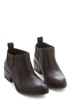 At First Prance Bootie. You know it's love the second you slide your feet into these black booties by BC Shoes, and hit the town in comfort and ease! #black #modcloth