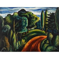 Hale Woodruff    Country Road    1938    Oil on canvas    19 x 25""