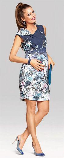 O armonie de culori...asa poate fi descrisa rochia pentru gravide Moon.