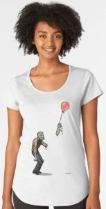 Zombie Looses Arm To Red Balloon T-Shirt features a sad zombie who is watching it's arm floating away attached to a red balloon. Red Balloon, Balloons, Cool T Shirts, Scoop Neck, Arm, T Shirts For Women, Mens Tops, Fashion, Moda