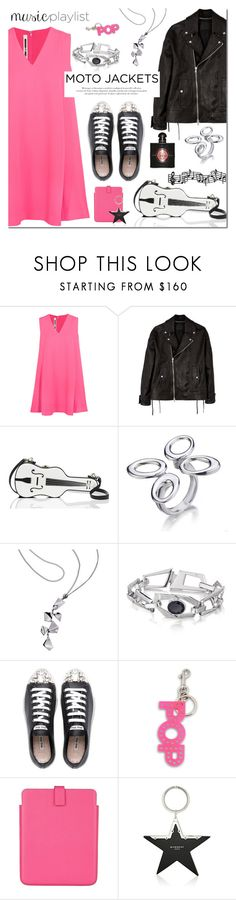 """After Dark: Moto Jackets"" by mada-malureanu ❤ liked on Polyvore featuring McQ by Alexander McQueen, Diesel Black Gold, Kate Spade, Miu Miu, STELLA McCARTNEY, Smythson, Givenchy, Yves Saint Laurent, Silver and jewelry"