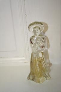 MIB glass Angel by Dillard's Trimmings figurine w/gold center $13 measures approx: 7.5""