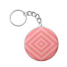 Abstract geometric pattern - pink. keychain - christmas keychains family merry xmas personalize gift idea