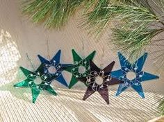 fused glass star christmas ornament - Recherche Google
