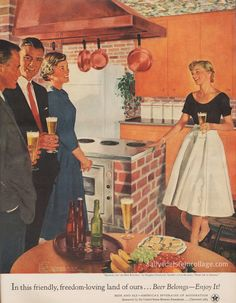 """blog/ website """"Beer belongs  Showing off the new kitchen by Douglass Crockwell part of series Home lIfe in America sponsored by US Brewers Foundation"""