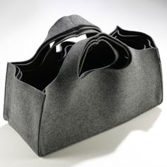 Great storage made from recycled plastic bottles available at www.suchandsuch.co   Torbuschka XL - Three Dark Grey Storage Bags