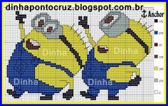 Minions cross stitch.