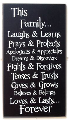 This Family... laughs and learns prays and by woodsignsbypatti