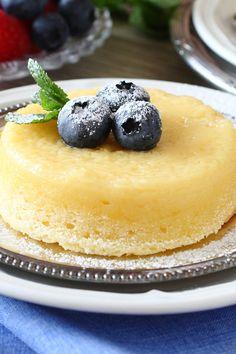 Lemon Pudding Cake with Fresh Berries Recipe
