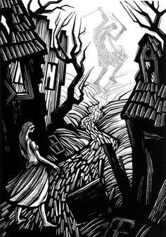Walpurgisnacht Novel by Gustav Meyrink, linocut illustrations by Vladimir Zimakov Published by Vita Nova, St. Petersburg, 2009