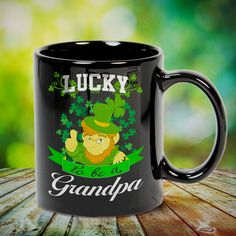 Lucky To Be A Grandpa St Patrick's Day Great t-shirts, mugs, bags, hoodie, sweatshirt, sleeve tee gift for grandpa, granddad, grandfather from grandson, granddaughter, or any girls, boys, grandchildren, grandkids, friends, men, women on birthday, mother's day, father's day, grandparents day, Christmas or any anniversaries, holidays, occasions. Grandchildren, Grandkids, Grandpa Quotes, Grandparents Day, Grandpa Gifts, Great T Shirts, St Patricks Day, Fathers Day, Anniversary