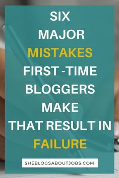 If you're a new blogger, looking for tips and tricks, especially common blogging mistakes to avoid, you need to read this post. I write about 6 terrible mistakes that caused my first blog to fail. I also write about the lessons and tips I learned from my first failure and how I plan to better my second blog. This information can help you avoid failure and achieve success!