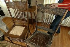 Learn how to repair and refinish an antique chair; includes details on disassembling the chair, making repairs, reassembly, and finishing.