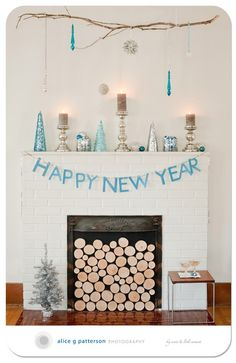 Holiday mantels from the mantel challenge.  Love this simple one by Alice Patterson. More sneak peeks on the blog today. (CHEERS!)