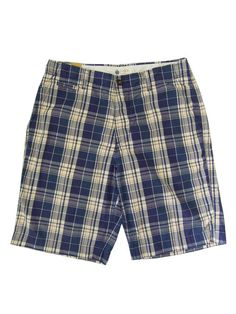 J.CREW : Cotton Check Shorts -blue/white/red-