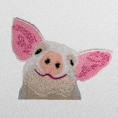 Piglet Pocket Selfie Machine Embroidery Design - Howard Robinson