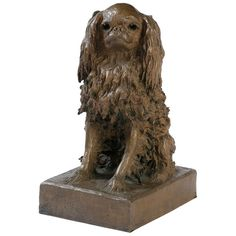 Bronze Sculpture of a King Charles Spaniel  France  Circa 1906  Life size sculpture of A King Charles Spaniel Signed by A. Zeitlin  dated 1906 Alexander Zeitlin was born in Russia in 1872 and worked in  Paris, Vienna and New York he died in 1946 this sculpture was done in Paris    Price