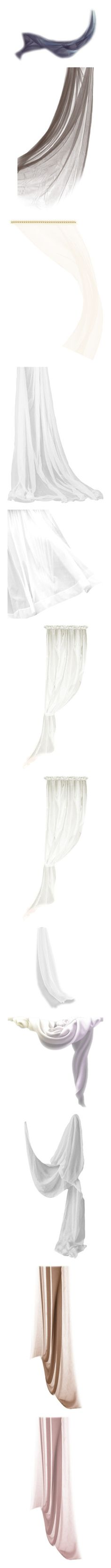 """Curtains w/ movement"" by quicherz ❤ liked on Polyvore featuring cloth, fabric, curtains, flutters, tubes, effects, windows, cortinas, misc and filler"