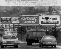 Maine's anti-billboard law called for the phaseout of all commercial billboards by 1984. On December 23, 1980, the U.S. Circuit Court of Appeals ruled that the law, as written, was unconstitutional. The U.S. Supreme Court in 1981 upheld the right of cities or states to ban commercial billboards. Item # 5863 on Maine Memory Network