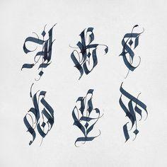377 отметок «Нравится», 14 комментариев — Alexander Shimanov (@alexshimanov) в Instagram: «ABCDEF - playing with letters #Calligraphy #letters #sketch #parallelpen»