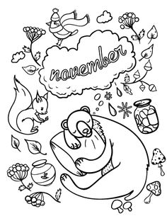 Printable December coloring page Free PDF download at http