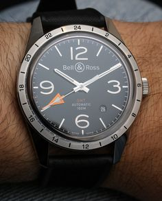 Bell & Ross BR 123 GMT 24H Watch ($3,600 (on rubber) to $3,900 (on metal))