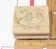 TWO GEESE OR DUCKS BY GREAT IMPRESSIONS RUBBER STAMP #GREATIMPRESSIONS #RUBBERSTAMP