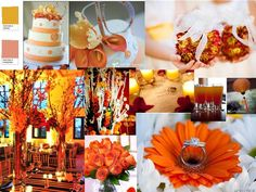 Color of the year ..2012 - Orange : PANTONE WEDDING Styleboard : The Dessy Group