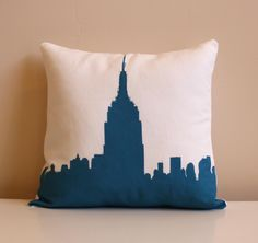 Empire State Building Pillow Urban Throw Style no7 by NestaHome