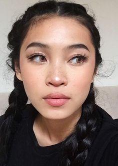 Asian makeup natural, natural makeup looks, asian beauty, asian eyebrows, n Makeup Goals, Makeup Inspo, Makeup Inspiration, Makeup Style, Character Inspiration, Eye Makeup, Hair Makeup, Best Night Cream, Tumbrl Girls