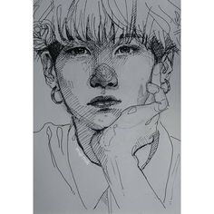 "1,141 curtidas, 21 comentários - @mujimi1k no Instagram: ""yoongi pout 🌹 quick pen drawing • #art #sketch #portrait #drawing #bts #btsfanart #minyoongi #yoongi"""